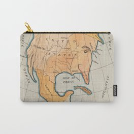 Vintage Cartoon Map of America's Uncle Sam Eating Cuba Carry-All Pouch