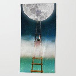 Reach for the Moon Beach Towel
