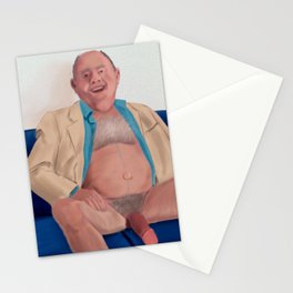 Daddy is tired after Work, but always happy when he sees me. Stationery Cards