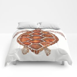 Turtle,Shell, Tortoise, Sealife, Lover, Animal Love, Brown Turtle, Wildlife, Turtle Lover, Turtles Comforters