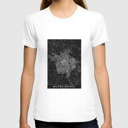 Milton Keynes Black Map T-shirt