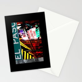 El Paso Street Stationery Cards