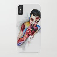 zombie iPhone & iPod Cases featuring Zombie by Camille Ratté