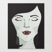 marceline Canvas Prints featuring Marceline by Grace Elizabeth McConnell