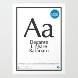 Classificazione: Lineari Umanistici Art Print