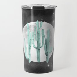 Cactus Nights Full Moon Starry Sky Sage by Nature Magick Travel Mug