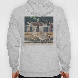 cycling across France on this pretty white bicycle Hoody