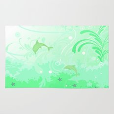 Dolphins Swimming Rug