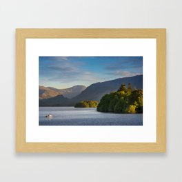 Lake Derwentwater in the Lake District, England Framed Art Print