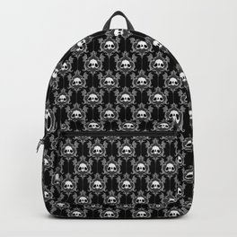 Halloween Damask Black Backpack