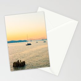 New York Sunsets in a Sail Boat Stationery Cards