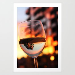 The Hour Is Wine Art Print