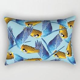 makaw flying pattern blue Rectangular Pillow