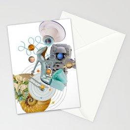 Space Fashion Trip by Lenka Laskoradova Stationery Cards