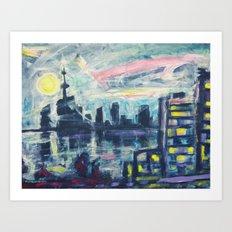 Magical City Evening Art Print