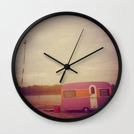 Faded Caravan Wall Clock
