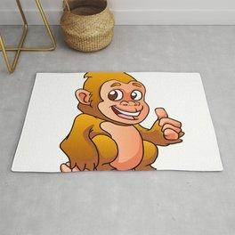 baby gorilla cartoon Rug
