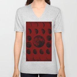 Phases of the Moon Unisex V-Neck