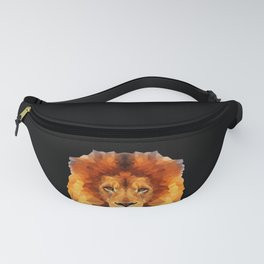 Great and Cool Lion Lions Male Polygon Design Fanny Pack