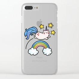 Cat Unicorn Clear iPhone Case