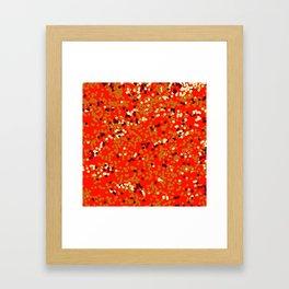 dots on red Framed Art Print