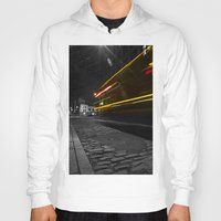 dumbo Hoodies featuring DUMBO Light trail by Juha Photography