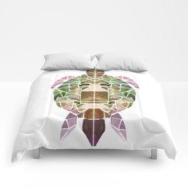 green mosaic turtle Comforters
