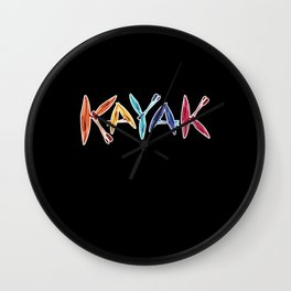 Kayaks & Paddles Kayaking Kayaker Gift Wall Clock