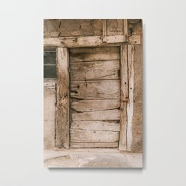 "Travel Photography ""Door Riquewihr"" Haute-Rhin, Allsace, France Metal Print"