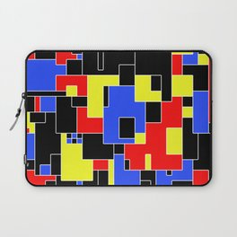Primary Plans - Abstract, geometric map in primary colours Laptop Sleeve