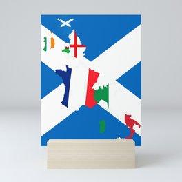 Scotland Rugby Fan St Andrews Cross Flag Design Mini Art Print