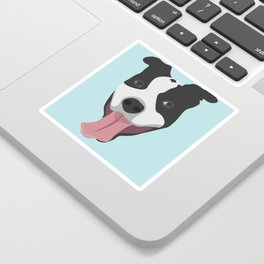 Smiley Pitbull Sticker