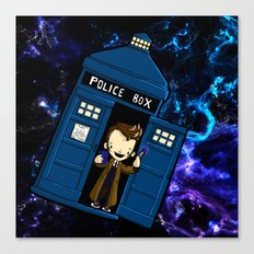 Tardis in space Doctor Who 10 Canvas Print