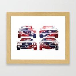 America Muscle Framed Art Print