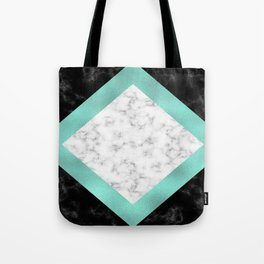 Mint marble Tote Bag