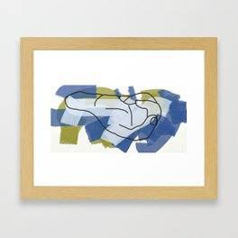 Hand 01, 180419 13:08 PM GMT, ArtRage/Mouse drawn Framed Art Print