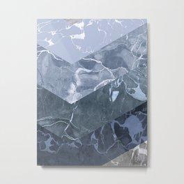 Isometric Marble Metal Print