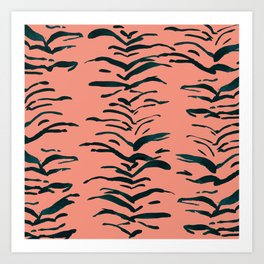 Tiger Skin Watercolor Pattern Art Print