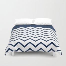cheveron blue Duvet Cover