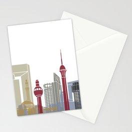 Jeddah skyline poster Stationery Cards