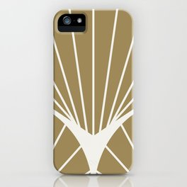 Diamond Series Round Sun Burst White on Gold iPhone Case