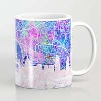 london Mugs featuring London by Bekim ART
