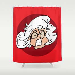 Mamma Antes Angry Face Shower Curtain