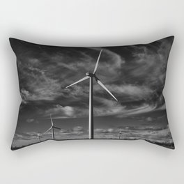 Wind Turbines #moody #blackwhite Rectangular Pillow