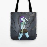 cyberpunk Tote Bags featuring Cyberpunk by GrazilDesign