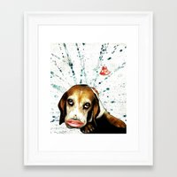 "beagle Framed Art Prints featuring ""Beagle"" by AntiManifesto"