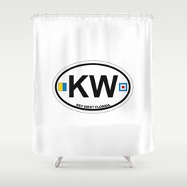 Key West - Florida. Shower Curtain