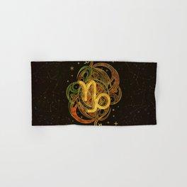Capricorn Zodiac Sign Earth element Hand & Bath Towel