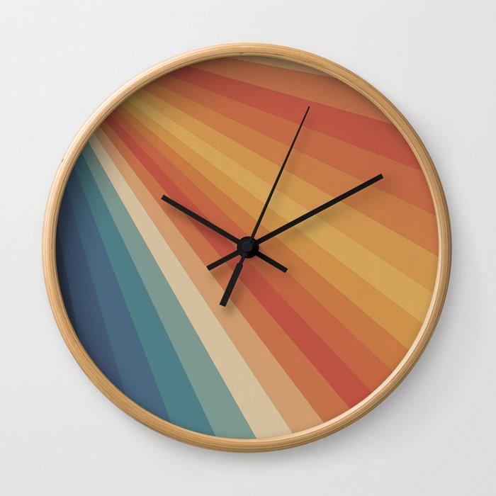 Retro 70s Sunrays Wall Clock