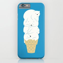 Polar Bear Ice Cream iPhone Case